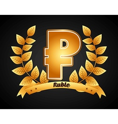 ruble symbol vector image