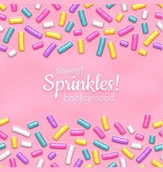 Seamless background with many decorative sprinkles vector