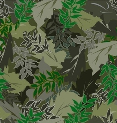 Seamless camouflage leaves different vector