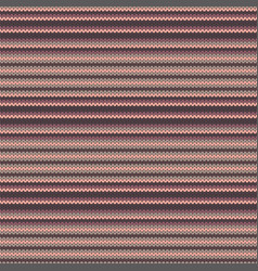 striped knitted seamless pattern vector image