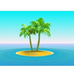 Two palm trees vector