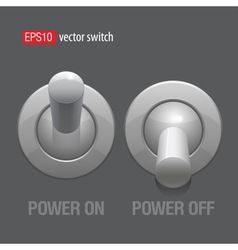 Cool Realistic Toggle Switch grey color vector image