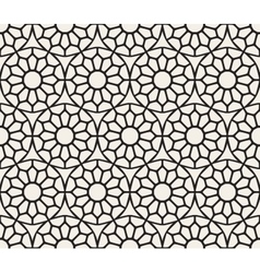 Seamless Black and White Lace Ornamental vector image