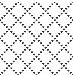 Black and white hearts vector image