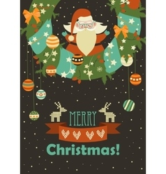 Santa claus celebrating christmas vector