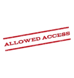 Allowed access watermark stamp vector