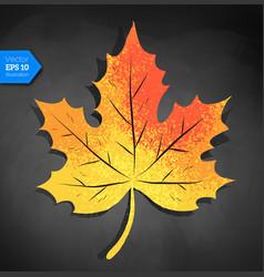 Yellow autumn maple leaf vector
