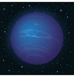 Planet neptune in space vector