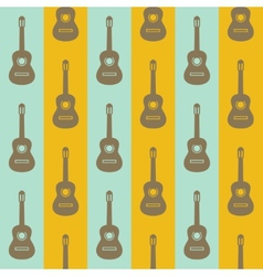 Seamless vintage background with guitars vector
