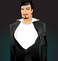 smart guy vector image
