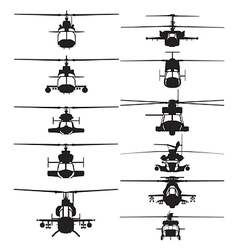 Helicopter silhouettes vector