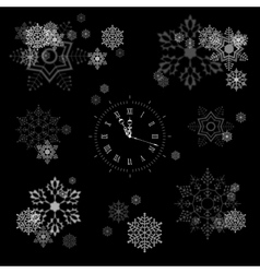 Snowflakes collection vector