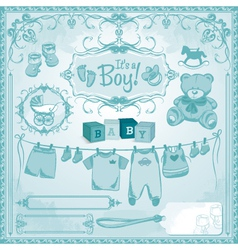 Baby boy childbirth vector