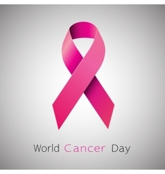 Cancer awareness pink ribbon vector