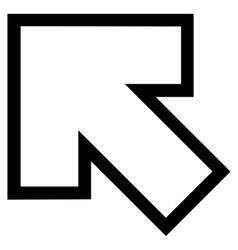 Arrow left up stroke icon vector