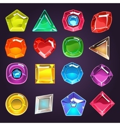 Flash game jewel set vector