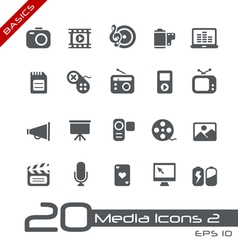 Multimedia Basics Series vector image