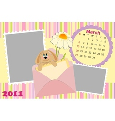 Babys monthly calendar for march 2011s vector