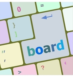 Board button on computer pc keyboard key vector