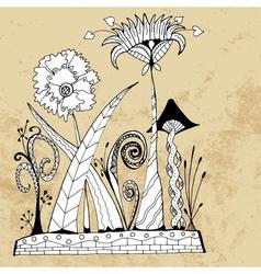 Alien flowers vector