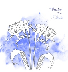 Background with watercolors and flowers-05 vector