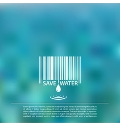 Blurred sea background with save water vector
