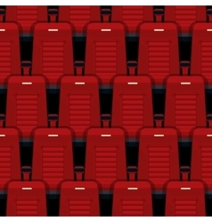 Cinema seats seamless background vector image
