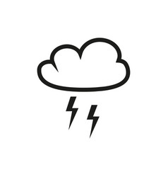 cloud with lightning icon vector image