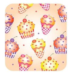 cupcake wallpaper vector image vector image