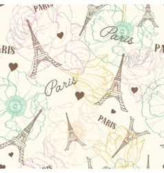 Eifel Tower Paris Seamless Pattern In vector image vector image