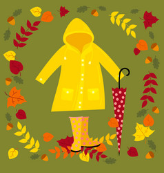 fall warm autumn set vector image
