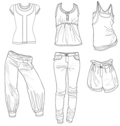 Fashion skech trend print women girl design vector