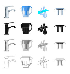 filter system processing and other web icon in vector image vector image
