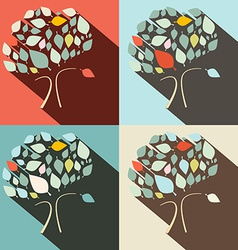 Flat Design Trees Set vector image vector image