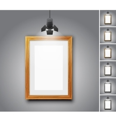 Gallery room vector