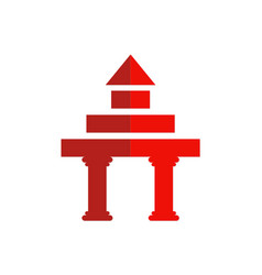 Gate construction building logo vector
