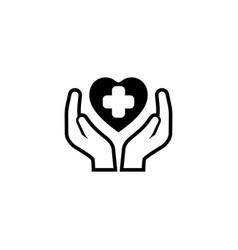 Health care center icon flat design vector