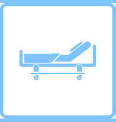 Hospital bed icon vector