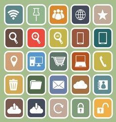 Internet flat icon on green background vector