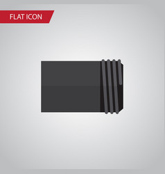Isolated pipe flat icon tube element can vector