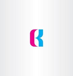 letter b cyan magenta logo icon vector image