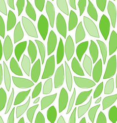Seamless Green Leaves Pattern vector image vector image
