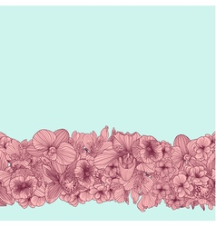 Seamless vintage flower border vector image vector image