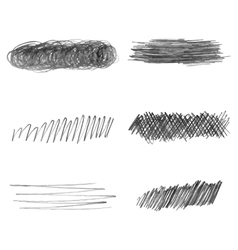 Set of hand drawn pencil strokes doodle vector image vector image