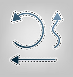 Simple set to interface arrows blue icon vector