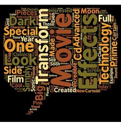 The Transformers Movie text background wordcloud vector image