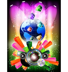 world music background vector image