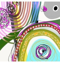 Original digital painting of abstraction vector