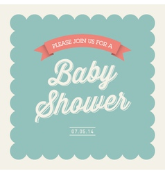 baby shower card invitation vector image