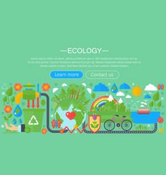 Modern flat infographic ecology concept green vector